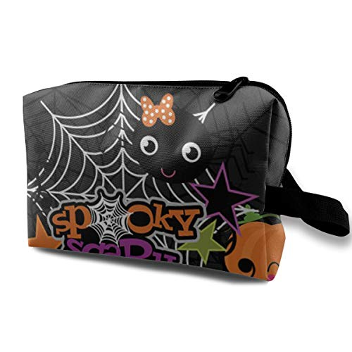Cosmetic Bags Halloween Ghost Pumpkin Wallpapers Travel Makeup Multifunction Storage Portable Clutch Pouch Toiletries Organizer -