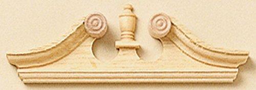 Dollhouse Miniature Deerfield Window Pediment Set of 2