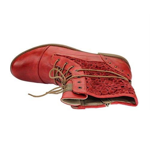 Mustang 1157527 - botas clásicas de caña media Mujer Rojo