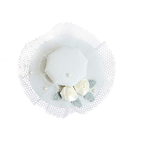 Fascinator Hats Pillbox British Bowler Hat Flower Wedding Hat Tea Party Cocktail -