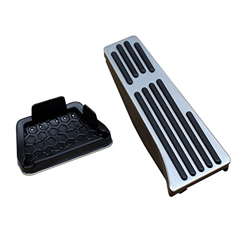 for BMW E90 F10 F12 F01 F25 E70 E71 E89 No Drill Aluminum Gas Brake Pedal Covers Accessories (Fits: BMW 3 5 6 7 Series X3 X5 X6 Z4) ()