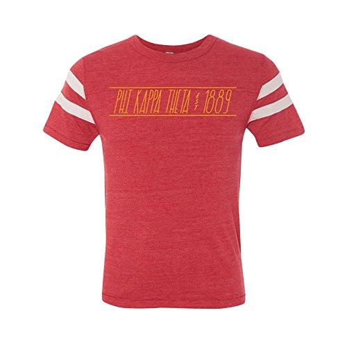 Phi Kappa Theta Fraternity Jersey Short Sleeve Football T-Shirt Small ()
