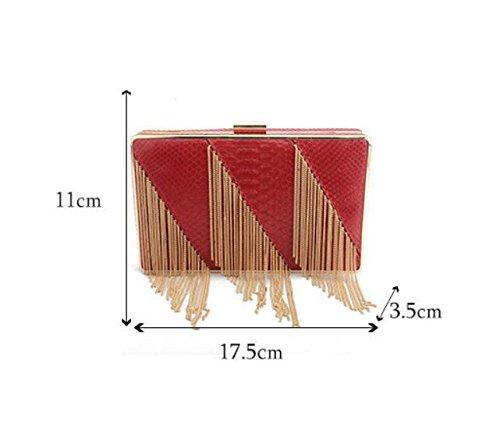 sac sac à main à bandoulière mariage soirée Red Party de sac Femmes élégant de sac d'embrayage sac pochette sac GSHGA BAxw54qWEn