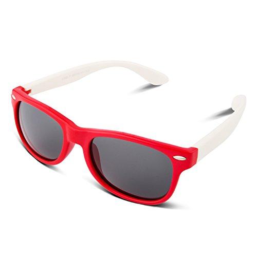 RIVBOS RBK004 Rubber Flexible Kids Polarized Sunglasses Age 3-10 (W - Costa Any Sunglasses Good Are