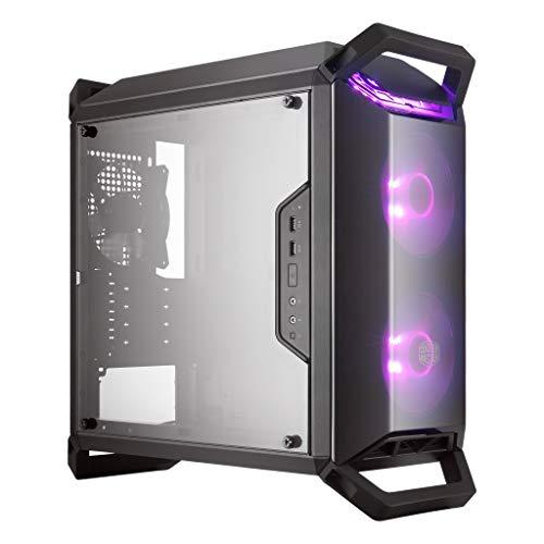 MasterBox Q300P mATX Case w/ 2 RGB Fans, RGB Controller & Splitter, 4 Handles, Transparent Acrylic Side Panel by Cooler Master (Renewed)