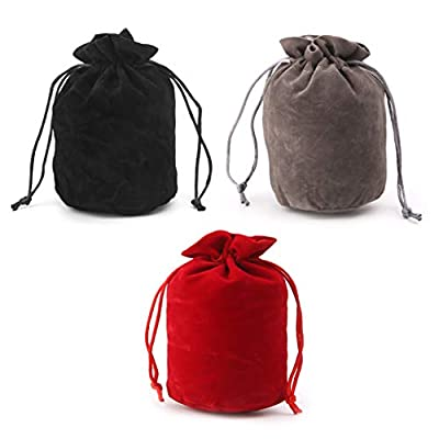PoityA Velvet Dice Bag Jewelry Packing Drawstring Bag Board Game - Red: Toys & Games