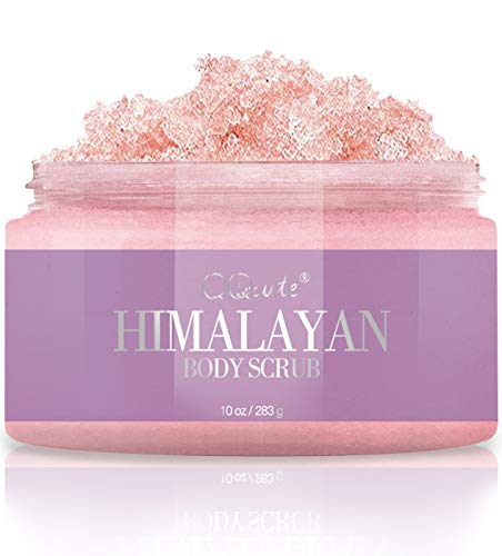 QQcute Naturals Himalayan Salt Body Scrub For Body Shower With Essential Oil All Natural Organic Exfoliating Body Scrub To Moisturize and Removing Dead Skin Cells Great Present For Women - 10 Ounce from QQcute