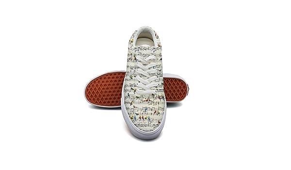 Ouxioaz Womens Action Shoes Vintage Books Sports Shoe Laces