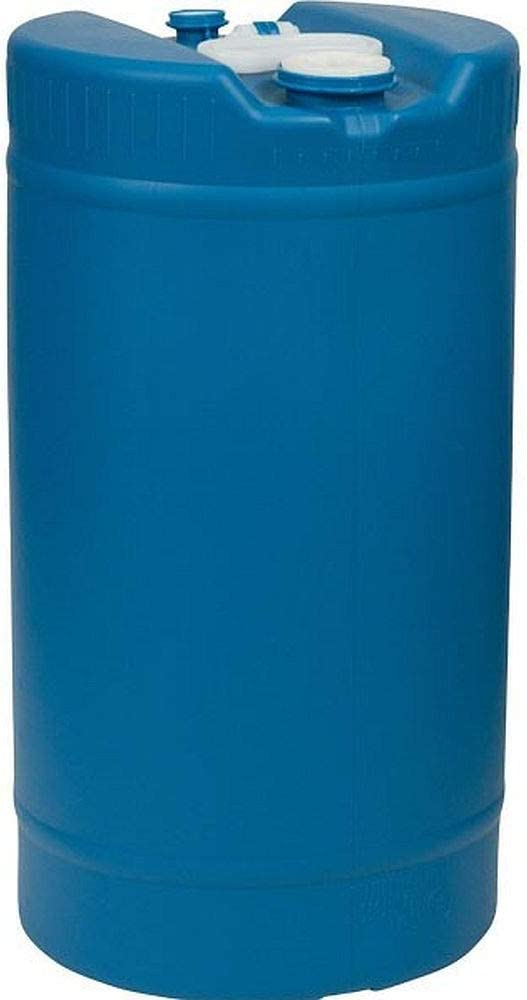 15 Gallon New Plastic Barrel | Blue | Good Water Storage