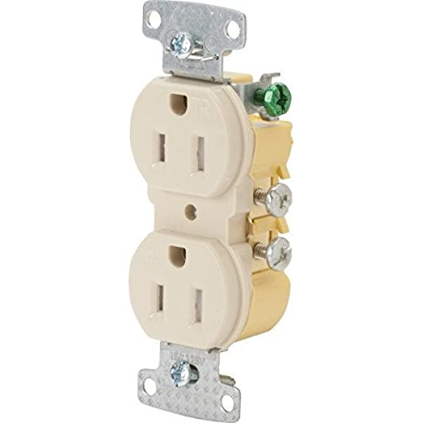 Details about  /Box of 10 Hubbell RR155WZ Single Receptacle White Toma Simple Blanca 15 A 250V