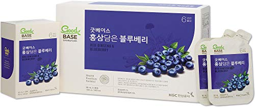 KGC Cheong Kwan Jang [Good Base Red Ginseng] Health Drink for Blood Circulation and Balance Pressure Levels (30 Drink Pouches) - Blueberry