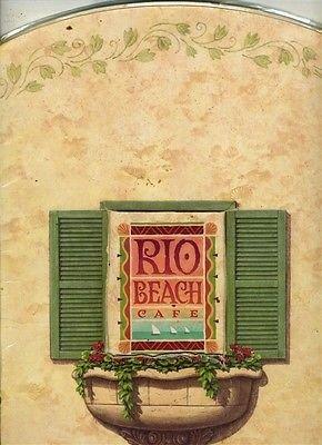 1996 Casino (Rio Beach Cafe Menu 1996 Rio Hotel and Casino Las Vegas Nevada)