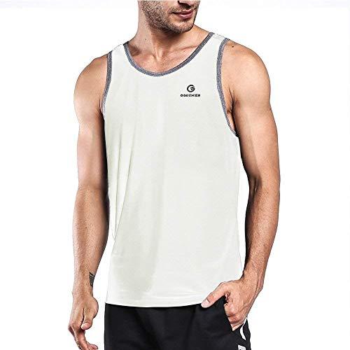 Bodybuilding Gym Ogeenier Homme Rapide Fitness Manches Blanc Sport Séchage Débardeur Sans Running De Pour xqx1ACwg