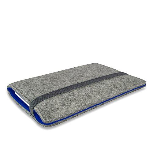 Stilbag Filztasche 'FINN' für Apple iPhone 6s plus- Farbe: hellgrau/blau