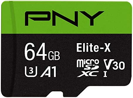PNY 64GB Elite-X Class 10 U3 V30 MicroSDXC Flash Memory Card