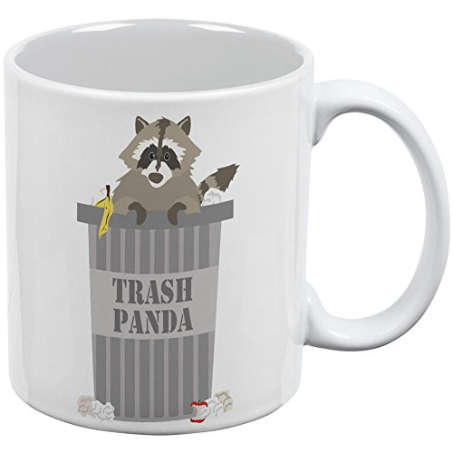 [Trash Panda Raccoon White All Over Coffee Mug] (Bag Of Trash Costume)