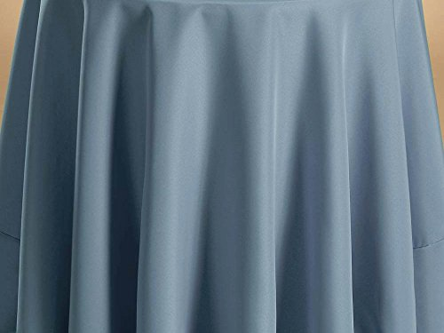 Fabric Color Samples - Bright Settings Fabric Sample - Flame Retardant Basic Polyester Solid Colors-Slate Blue