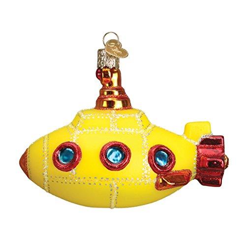 Old World Christmas Groovy Submarine Glass Blown - Groovy Tree Christmas