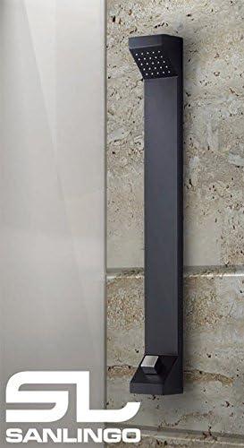 Aluminio Columna Ducha Lluvia Negro Sanlingo: Amazon.es: Bricolaje ...