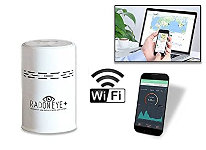 Radon Eye + Plus iOT Smart Radon Detector Connect to Web by WiFi add Temperature and