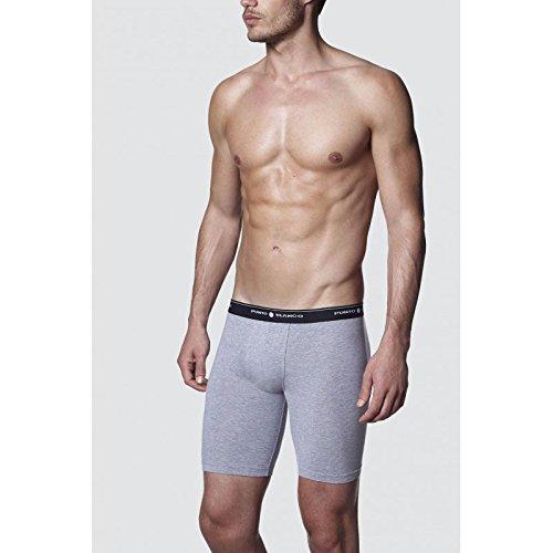 (Punto Blanco - Mens Bike Boxer Trunks Punto Blanco Cycling Underwear Sport - GRIS, 52/L)