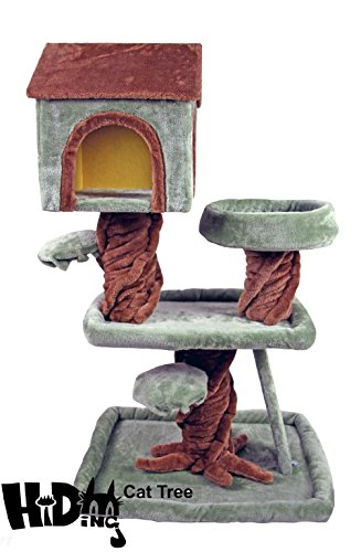 39u0026quot; Hiding Cat Tree Special Special Cat Tree Robin Hood Tree House  Furniture Playhouse Pet
