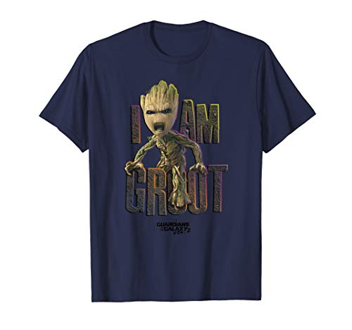 Marvel Guardians Vol.2 I AM GROOT Cute Angry Graphic T-Shirt T-Shirt