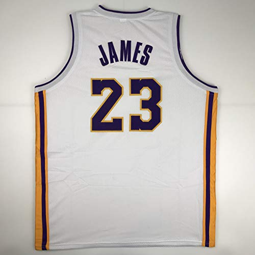 - Unsigned LeBron James Los Angeles LA White Custom Stitched Basketball Jersey Size Men's XL New No Brands/Logos