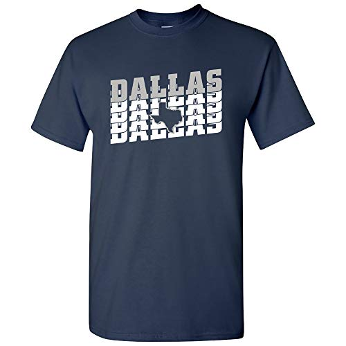UGP Campus Apparel Dallas Retro Repeat - Sports Team City Pride Tailgating T Shirt - Small - -
