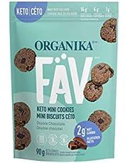 Organika Fav Keto Mini Cookies-Snickerdoodle- Low Carb, Collagen Protein