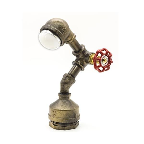 "Y-Nut Loft Style Vintage Metal LED Table Lamp,""Alfred"", Steampunk Industrial, Night Light, Desk Light, LL-007-DL 3"