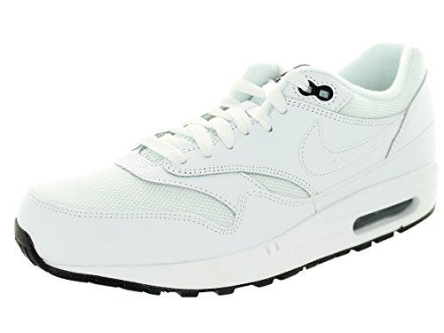 Nike Men's Air Max 1 Essential White/White/Black Running Shoe 9.5 Men US (Men Nike Air Max 90 compare prices)