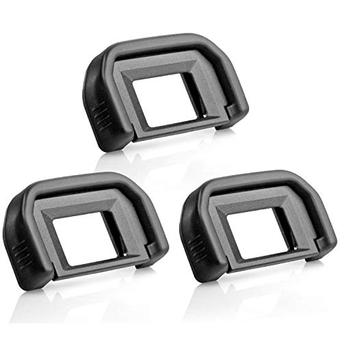 Kamisafe (3 Pack) Camera Eyecup Eyepiece Viewfinder Protector Replacement EF Compatible with Canon EOS 300D 350D 400D 450D 500D 550D 600D 1000D 1100D 700D 100D Rebel XT XTi XSi T1i T2 T2i T3 T3i T4i 18 Mm Rubber Eyecup