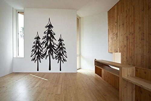 Tall Pine Evergreen Trees Vinyl Wall Decal Sticker ()