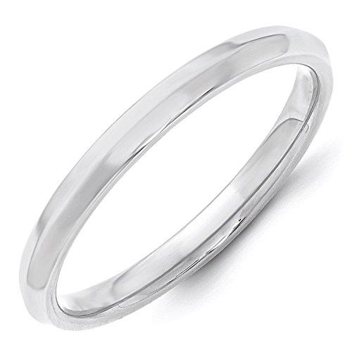 White Gold Mens Knife Edge - Lex & Lu 10k White Gold 2.5mm Knife Edge Comfort Fit Band Ring-Prime