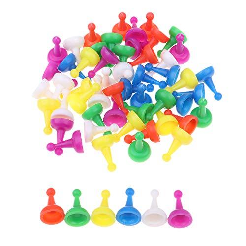 FLAMEER 60pcs Piezas Draught Checkers Chess Pieces para Juego de Mesa de Tablero