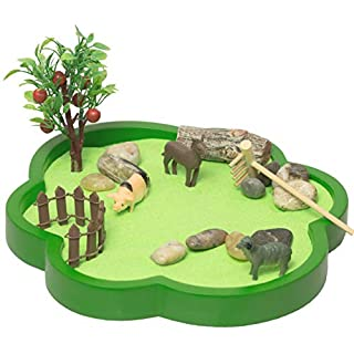 The Farm Sandbox, a New Generation of Executive Mini Zen Garden Set, Farming at Your Desktop, Perfect Relaxation and Meditation Gift, Play Sand Box Toy for Kids, Boys and Girls