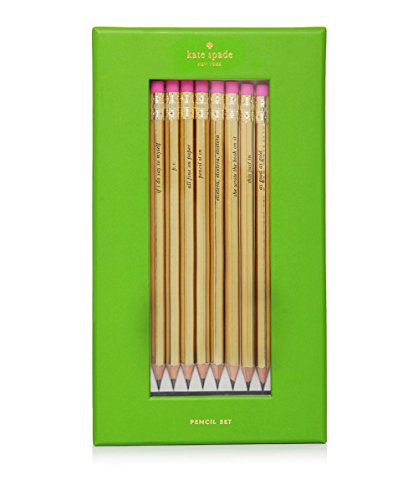 Kate Spade Pencil Set, Gold with Sayings (176846) for $<!--$29.08-->