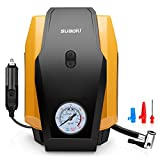 #2: SUAOKI Air Compressor Pump 150 PSI 12V DC Portable Tire Inflator with Gauge and Emergency Light for Truck, Cars, Motorcycles, Bicycles and Basketballs (25L/Min)