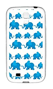 Samsung S4 Case,VUTTOO Cover With Photo: Elephant Line For Samsung Galaxy S4 I9500 - TPU White