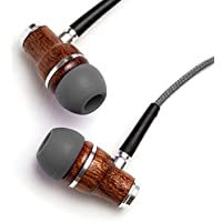 Symphonized NRG Premium Genuine Wood In-ear Noise-isolating Headphones with Microphone (Gray)