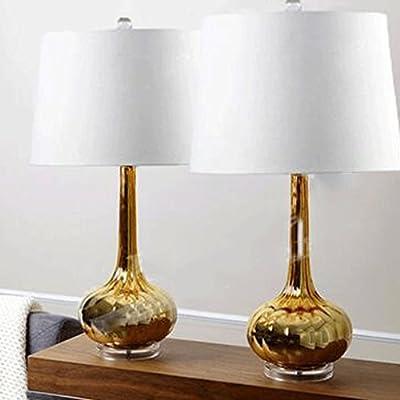 JHBJ lámparas moderna mesa de vidrio cristal de la lámpara ...