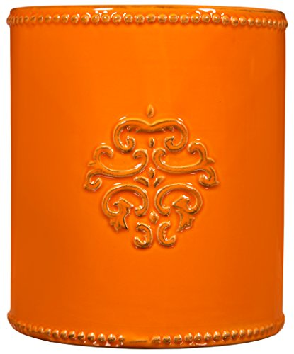 UPC 786460742185, Home Essentials & Beyond 74218 6 in. Medallion Utensil Crock, Orange