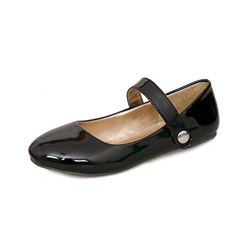 - Biggest Size 30-50 Mary Jane Hook&Loop Dating Round Toe Insole Spring Autumn Women Shoes Casual Flats Black 6.5