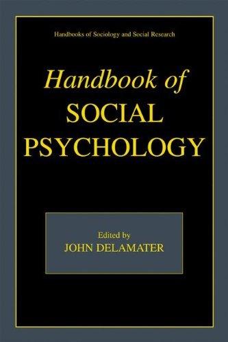 Download Handbook of Social Psychology (Handbooks of Sociology and Social Research) Pdf