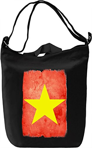 VIetnam Flag Borsa Giornaliera Canvas Canvas Day Bag| 100% Premium Cotton Canvas| DTG Printing|