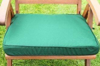 UK Gardens Green Deep Large Square Garden Furniture Chair Cushion