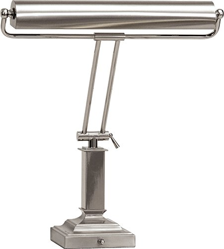 Satin House Chrome (House Of Troy P15-81-5262 18-Inch Portable Desk/Piano Lamp, Satin Nickel with Polished Chrome)