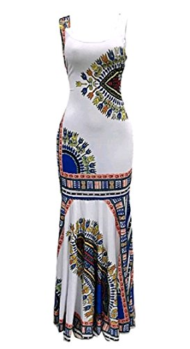Women Print Digital Dress Fit Coolred Slim Party Dashiki Evening Pattern2 Ethnic 4pwdcdqa
