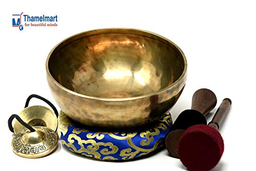 "8.5"" Root Chara HandHammered Meditation Singing Bowl for sale  Delivered anywhere in USA"